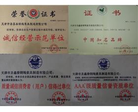 圣鑫泰荣誉证书