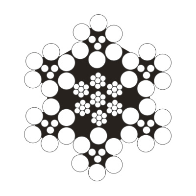 6×9w+IWR圆股钢丝绳(光面和镀锌)
