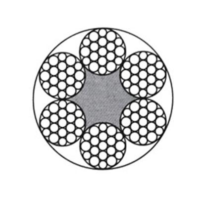 6*19S or 6*19W线接触钢丝绳(光面和镀锌)