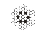 6×7+IWS圆股钢丝绳(光面和镀锌)