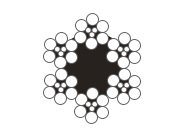 6×9w+7FC圆股钢丝绳(光面和镀锌)
