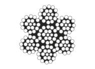 6×19+IWS圆股钢丝绳(光面和镀锌)