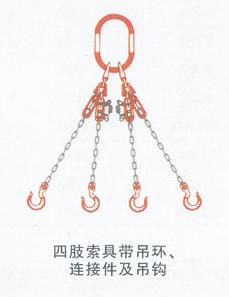 四肢索具带吊环、连接件及吊钩