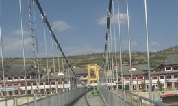 陇西影视城人行悬索吊桥170米